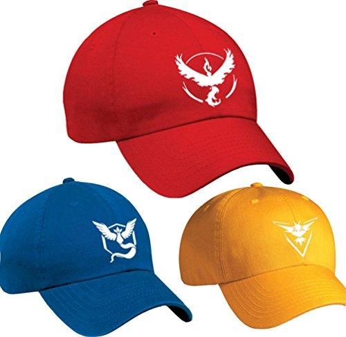 Lamaara-Mens-Cap-for-Team-Valor-Mystic-Instinct-Cap-HatBaseball-CapEmbroidery
