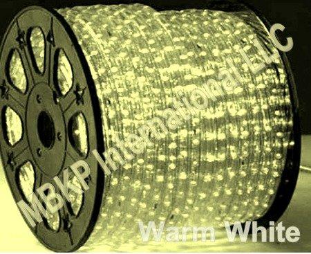 Warm White Led Rope Lights Auto Home Christmas Lighting 5 Meters(16.4 Feet)