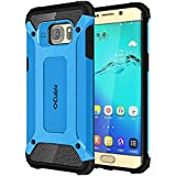 Cubix Impact Hybrid Armor Defender Case For Samsung Galaxy S6 Edge+ (Blue)