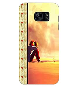 PrintDhaba Couple D-2685 Back Case Cover for SAMSUNG GALAXY S7 (Multi-Coloured)