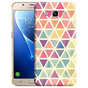 Theskinmantra Colorful Triangles Back cover for Samsung Galaxy J7 (2016 Edition)