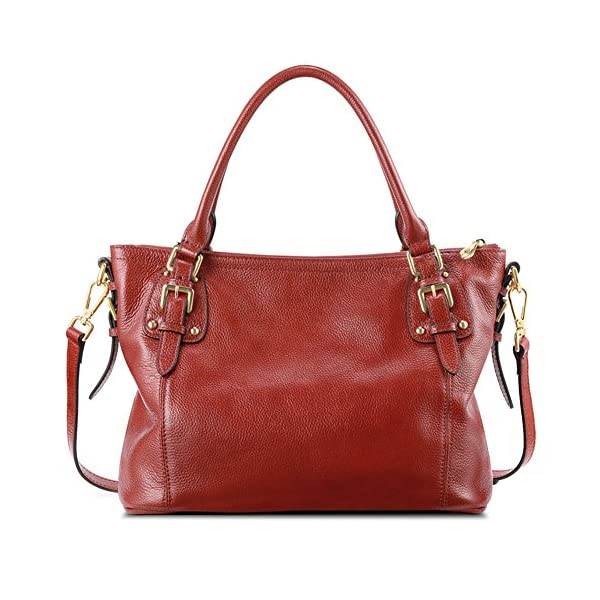 Kattee Women s Vintage Genuine Leather Tote Shoulder Bag - Visuall.co 1eb556f1b0ae7