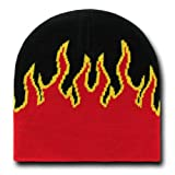 Decky Orgianl Fire Beanie - One Size - Black / Red -