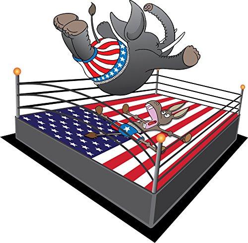 republican-elephant-democrat-donkey-smack-down-art-vinyl-sticker-aufkleber-home-decor-30-x-30-cm