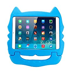Gearonic Kitty Kids Friendly Protective Shock Proof Safe Eva Foam Case Handle Cover Stand for iPad Air, Blue (AV5865-Blue-iPa5)