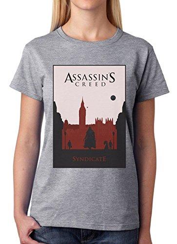 Assassin's Creed Syndicate-Maglietta classica da donna grigio XXL
