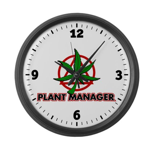 Large Wall Clock Marijuana Plant Manager
