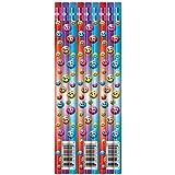 12 x Smiley Face Reward Pencils for Children, Ideal as Teacher Class Gifts