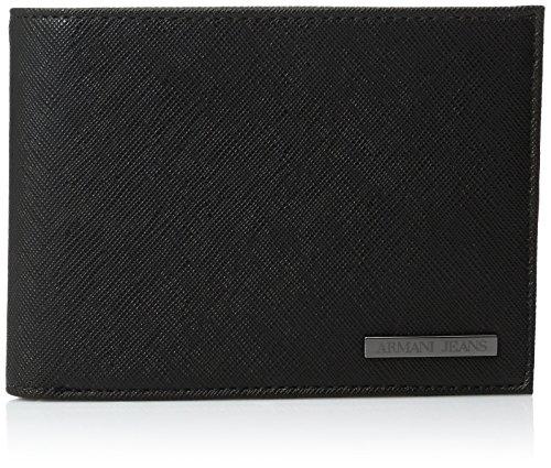 Armani Jeans Uomo Billfold Wallet Nero Unica Taglia