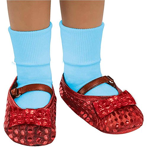 Kids Dorothy Red Sequin Shoe Covers - One Size