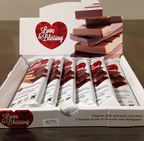 Baroness Chocolates: Box of 6 Love and Blessing- 50% Milk and 50% Dark Chocolate