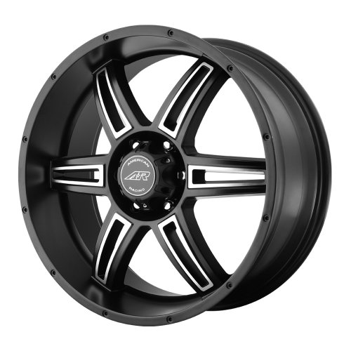 American Racing Custom Wheels AR890 Satin Black Wheel With Machined Accents (18x8