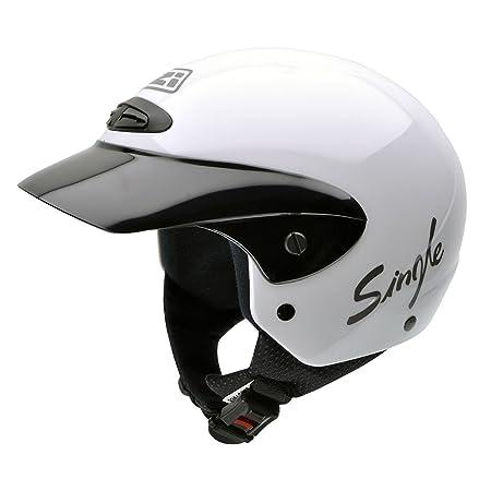 NZI 050139G001 Single Jr II B Casque de Moto, Blanc, Taille : L