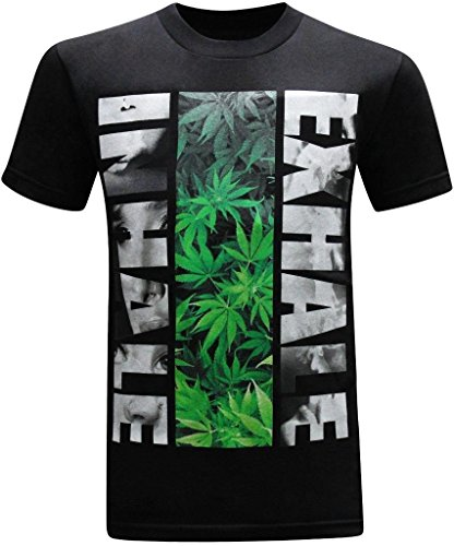 ab360c250 Inhale Exhale 420 Pot Weed Stoner Marijuana Men's T-Shirt - TokeStreet