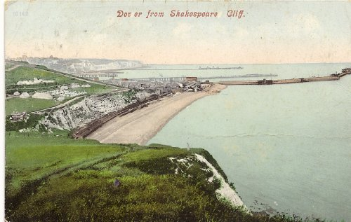 1905 Vintage Postcard View of Dover from Shakespeare