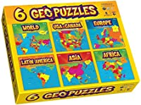 Set of 6 Geopuzzles in One Box - Educational Geography Jigsaw Puzzles By Geotoys from Geotoys