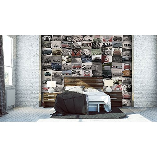 1wall-c64p-vw-001-creative-collage-volkswagen-photo-wallpaper-pack-of-64