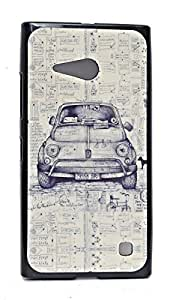 ECellStreet Exclusive Graphics Printed Soft Back Case Cover Back Cover Microsoft Lumia 730 - Car