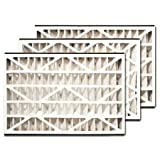 trion air bear 255649 101 3 pack pleated furnace air filter 16x25x3 merv 8
