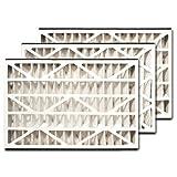 trion air bear 255649 101 3 pack pleated furnace air filter 16x25x3 merv 8