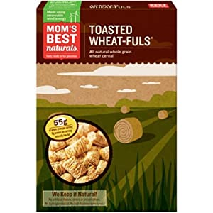 Amazon.com: Mom's Best Cereal-Wheat-Fuls Toasted, 24-Ounce (Pack of 4 ...