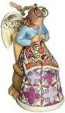 "Jim Shore for Enesco Heartwood Creek Sewing Angel Ornament, 3.75"""