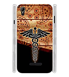 Doctor Medical Soft Silicon Rubberized Back Case Cover for Intex Aqua Power 4G
