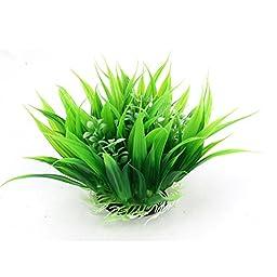 11Cm Height Green Artificial Plastic Water Plant Grass For Fish Tank Aquarium