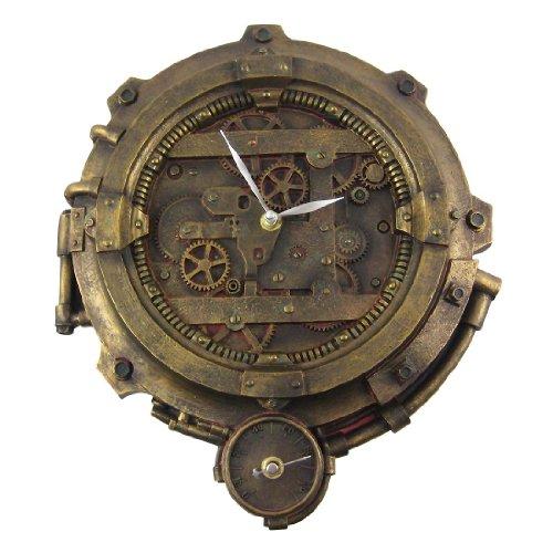 bronze finish steampunk wall clock