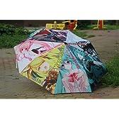 Vocaloid 初音ミク雨の日でも傘をさすと気分は晴れ 折りたたみ 傘 KSA-005