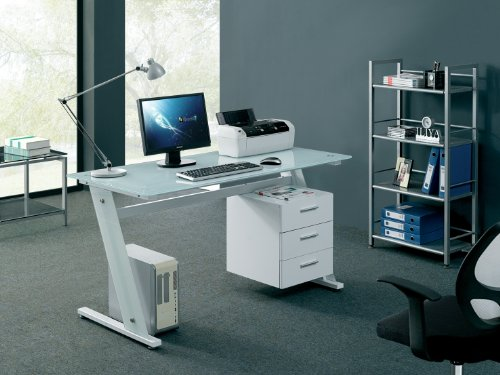 Computer Desk Home Office Table PC White Furniture New - NEXT DAY DELIVERY
