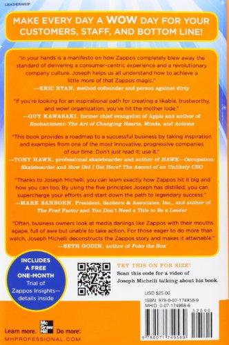 Libro the zappos experience 5 principles to inspire for Michellis menu