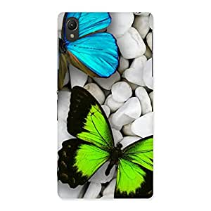 Ajay Enterprises Cool Premier Butterflies Back Case Cover for Sony Xperia Z2
