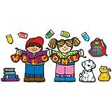 Carson Dellosa D.J. Inkers Apple Kids Welcome Bulletin Board Set (610033)
