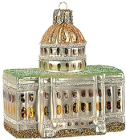 Capitol Building Polish Glass Christmas Ornament