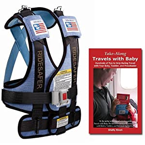 Bundle: Small Blue RideSafer Travel Vest (new 2012 model!) with Take-Along Travels with Baby Tips Guidebook