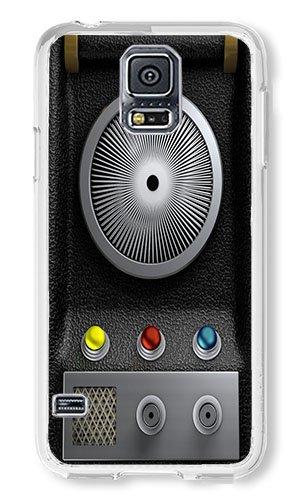 Samsung S5 Case AOFFLY® Star Trek Communicator Transparent PC Hard Case For Samsung Galaxy S5
