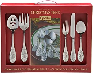 #!Cheap Spode Christmas Tree 45-Piece Flatware Set
