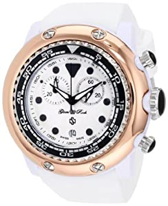 Glam Rock Women's GR20124 Miami Beach Chronograph White Dial Silicone Watch