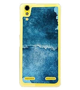 Abstract Blue Pattern 2D Hard Polycarbonate Designer Back Case Cover for Lenovo A6000 :: Lenovo A6000 Plus :: Lenovo A6000+