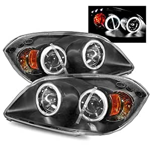 Chevy Cobalt Black CCFL Halo Projector Headlights /w Amber
