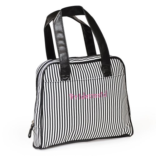 "Cathy's Concepts ""Bridesmaid"" Striped Cosmetic Bag"