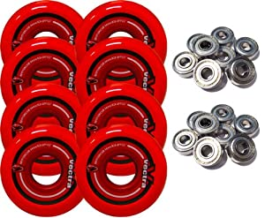 KRYPTONICS VECTRA 64mm 82a Inline Wheels SET OF 8 INCLUDES ABEC 5 BEARINGS by Kryptonics