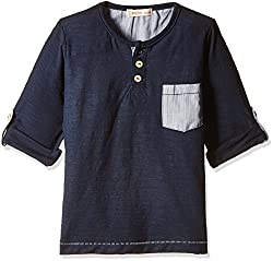 Fox Baby Boys' T-Shirt (Navy_12-18 Months_637912)