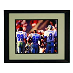 Dallas Cowboy Legends- Irvin, Smith, Aikman Framed 8x 10 Photo by Champion