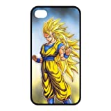 Popular Japanese Anime Dragon Ball Z Goku Especial Durable Hard Plastic Case Cover Fits Apple Iphone 4/4s Design ChristmasMAN DIY