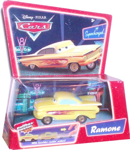 Disney Pixar Movie Series Cars Pullbax Motor Car - Ramone with Lowrider Rocki...