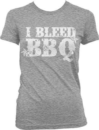 I Bleed BBQ Ladies Junior Fit T-Shirt, Funny Bar-B-Que In My Blood Design Junior'S Tee