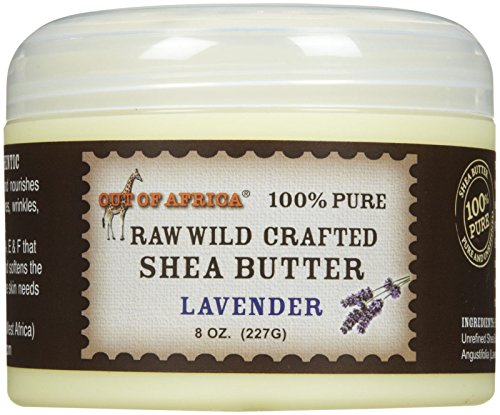 Raw Wild Crafted Shea Butter-Lavender-8 oz