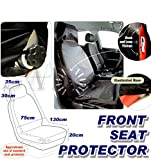 Water Resistant BLACK Heavy Duty Car Front Seat Protector/Cover, Vented Sides, Nylon